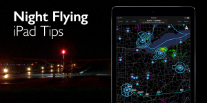 Tips for flying with the iPad at night