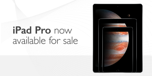 iPad Pro now available for sale