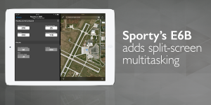 Sporty's E6B app updated with new multitasking features
