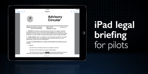iPad legal briefing – what pilots need to know