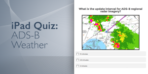 Quiz: Are you an ADS-B weather expert?