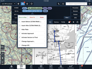 The ForeFlight edit box – your mobile FMS