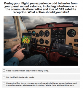 Quiz: What are you going to do when your iPad quits working in flight?