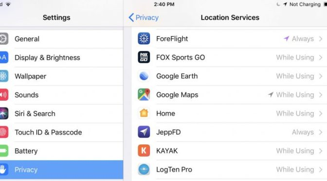 Optimize your iPad's location services settings