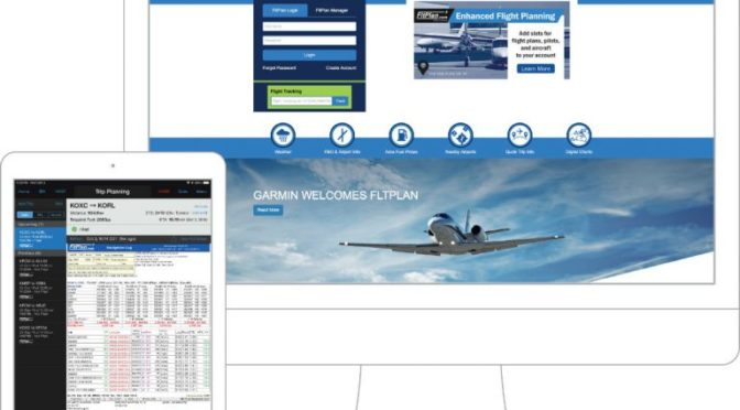 Garmin begins to integrate Fltplan.com features
