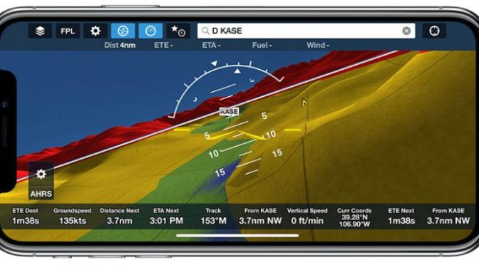 ForeFlight now supports synthetic vision on iPhone