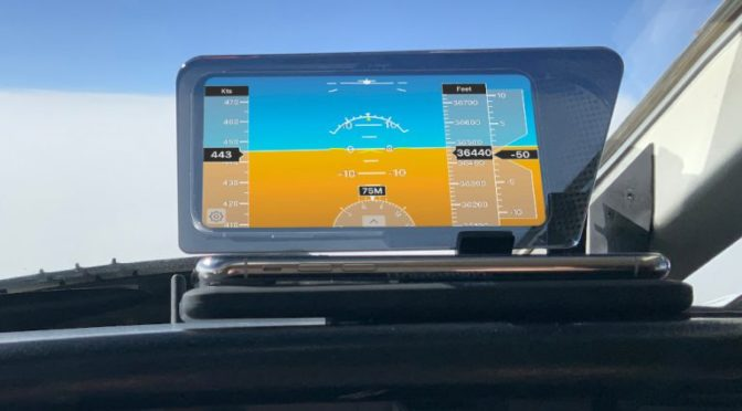 Basic heads-up display offers inexpensive backup attitude